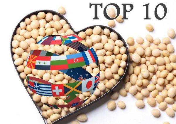 ТОП 10 стран-производителей сои в мире