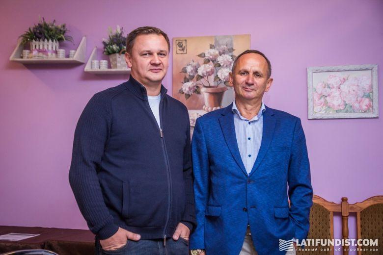 Андрей Полтавец (LNZ Group) и Александр Мельник («Сесвандерхаве-Украина»)