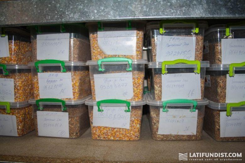 Пробы зерна в лаборатории компании «Панда»