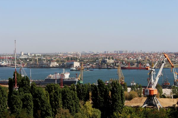 The seaport of Chernomorsk