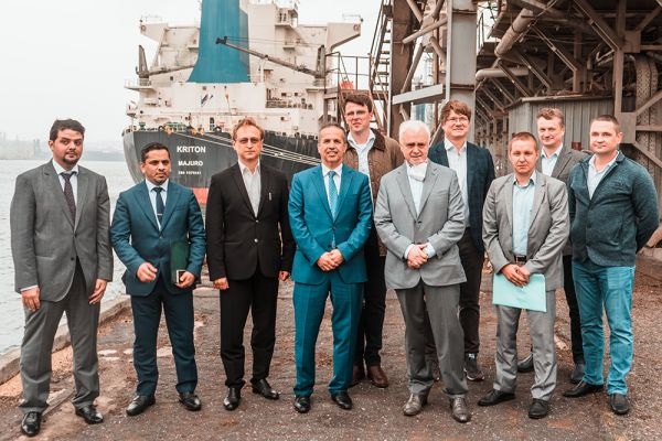 Continental Farmers Group team in the port of Chernomorsk