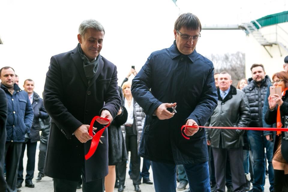 Открытие компанией «Укролия» первого в Украине завода по производству органического растительного масла