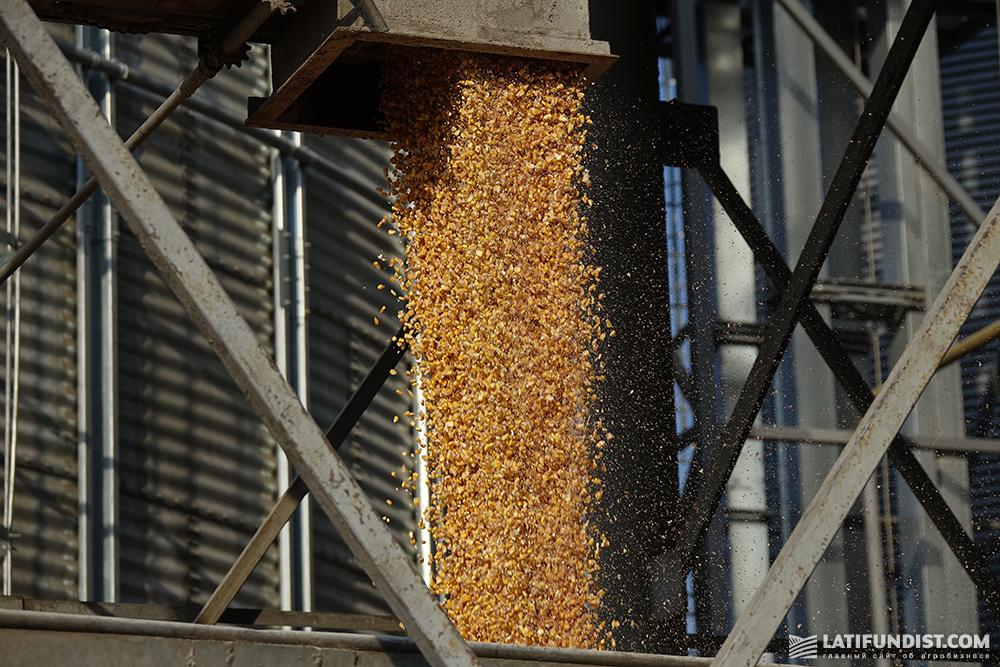Corn transshipment at an elevator in Ukraine