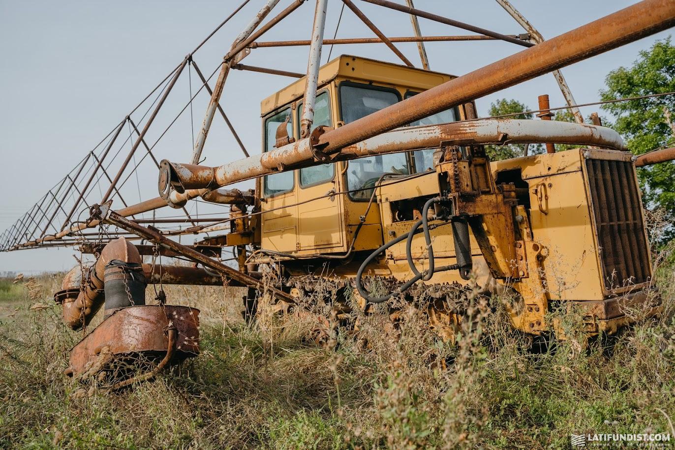 Дождевальная машина старого образца
