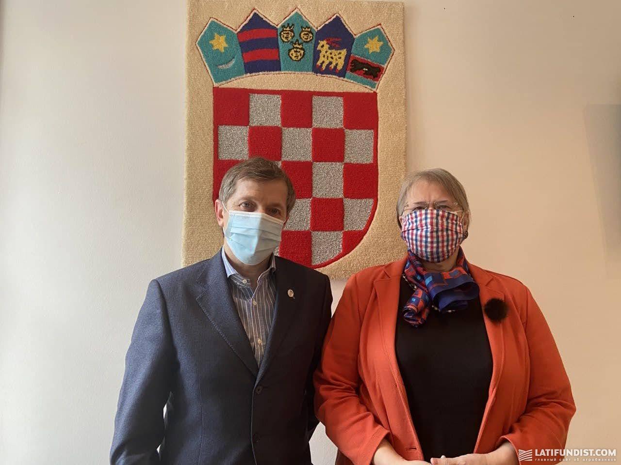 Консул Хорватии в Украине Сергей Фаткуллин и Посол Хорватии в Украине Аница Джамич