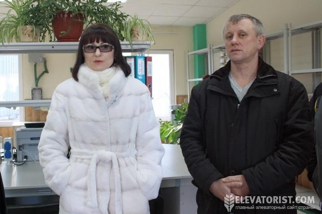 Директор элеватора Оксана Васильченко и главный инженер Виктор Боровенский
