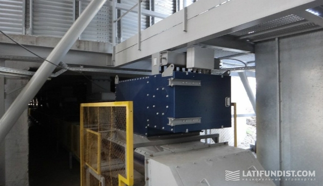 ЗПК «Бруклин—Киев» система аспирации сбрасывающей коробки при помощи локального фильтра ZEO-FG-1600