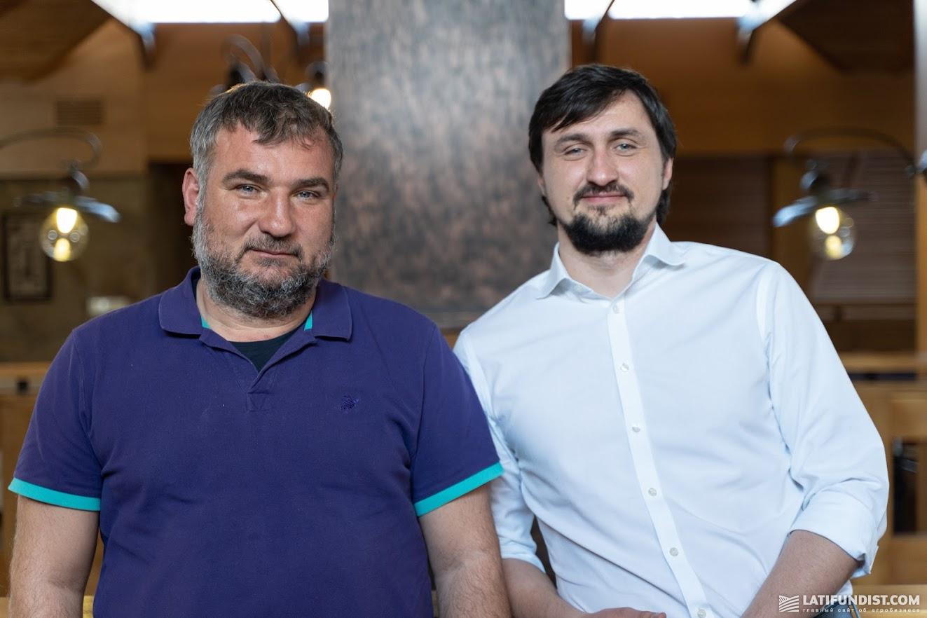 Юрий Дробязко, собственник Аграрной технологической компании (слева) и Александр Камышин, издатель Latifundist Media (справа)