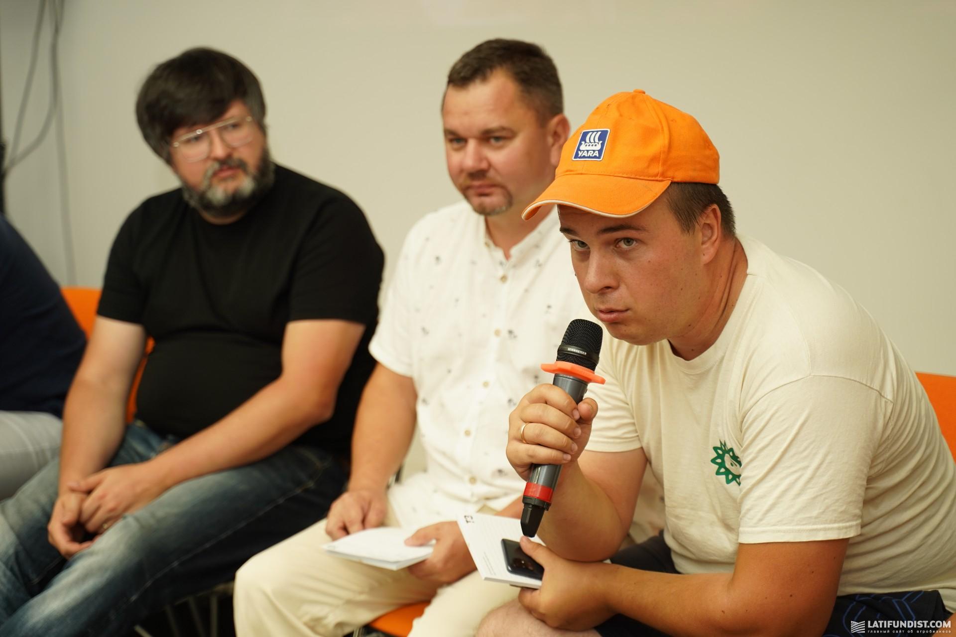 Сергей Скок (справа), директор «Скок Агро»
