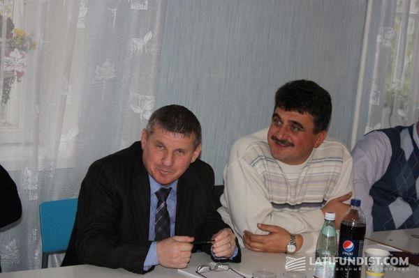 С. Демиджиев (справа) и Александр Дзигим (слева)