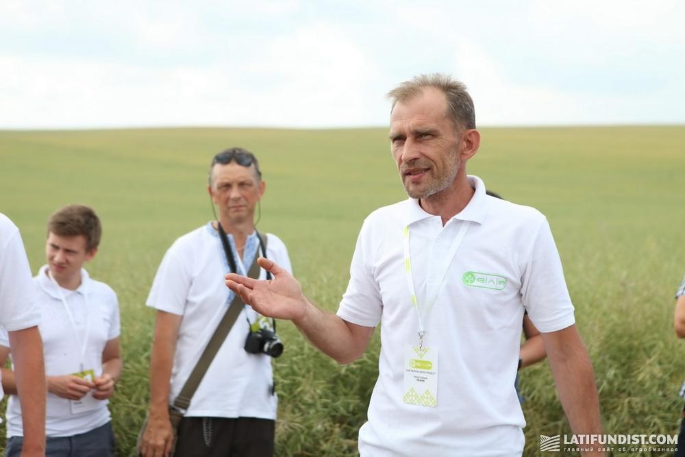 Виталий Хинцинский, заместитель директора по снабжению СЗР, удобрениями, семенами «Волынь-Зерно-Продукт»