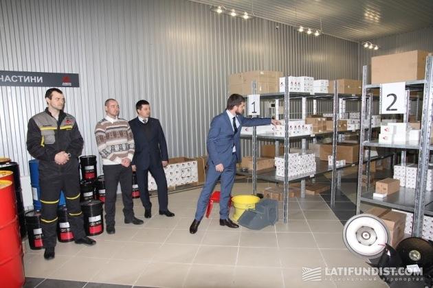 Склад запчастей в новом дилерском центре Fendt в Мелитополе