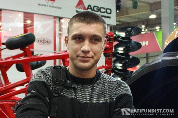 Михаил Литвиненко, студент пятого курса экономического факультета Национального аграрного университета Украины - будущий механик