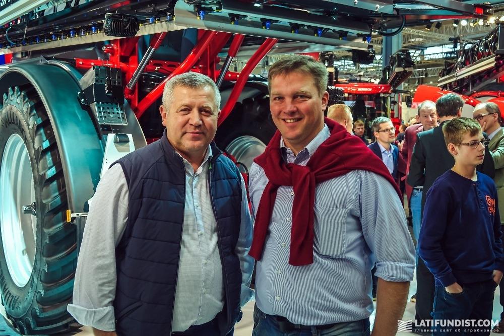 Зигмунд Лампка, владелец компании «Лампка Агро» и его сын Флориан