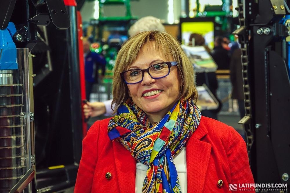 Раиса Ханнушка, представительница компании Geringhoff