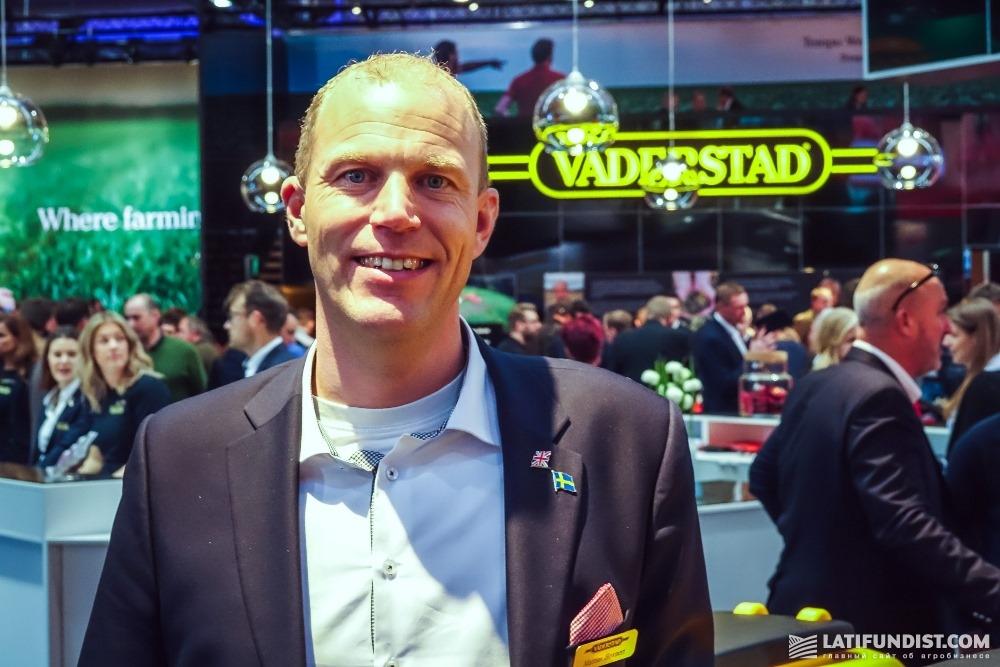 Матиас Ховнерт, менеджер по маркетингу и продажам компании Väderstad
