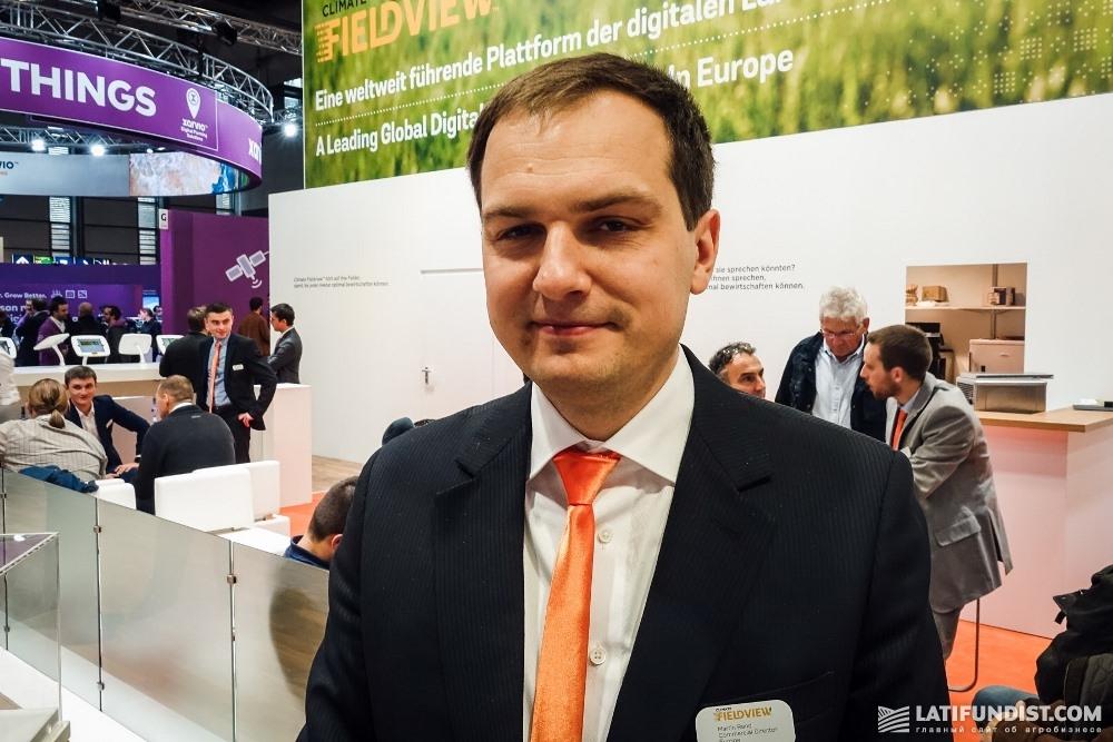 Мартин Ренд, коммерческий директор и сооснователь VitalFields, дочернего предприятия Climate Corporation