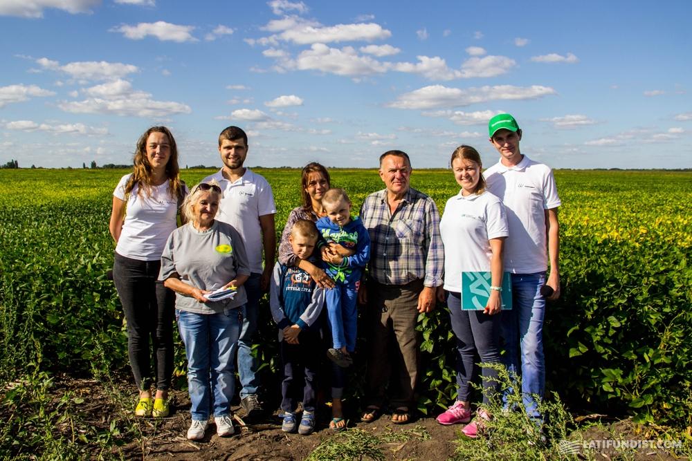 Команда АгроЭкспедитов с семейным предприятием «ЛАН»