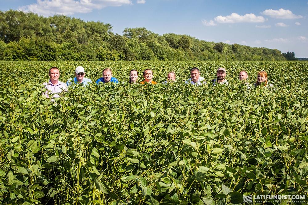 АгроЭкспедиторы в соевом поле «Родного края»