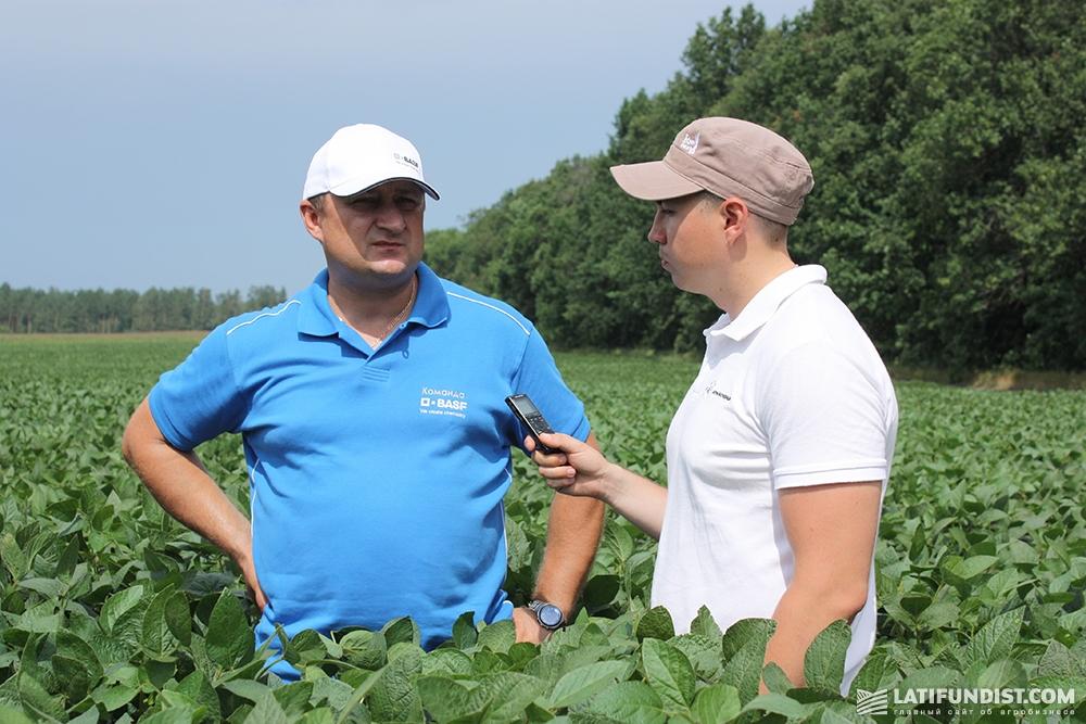 Евгений Кравченко, региональный менеджер BASF по сбыту в Сумской области, дает положительную оценку сои компании