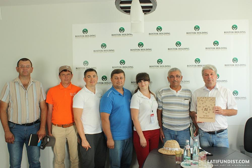 АгроЭкспедиторы и представители компании «РОСТОК-ХОЛДИНГ»