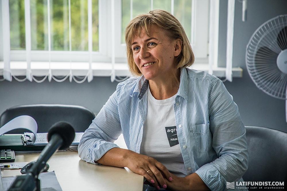 Лариса Бачинская, директор Житомирского кластера компании «Агро-Регион»