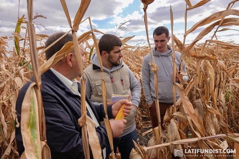 Николай Бантов делится с АгроЭкспедиторами технологией выращивания кукурузы в АФ «Мрия»