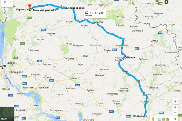 Карта маршрута АгроЭкспедиторов