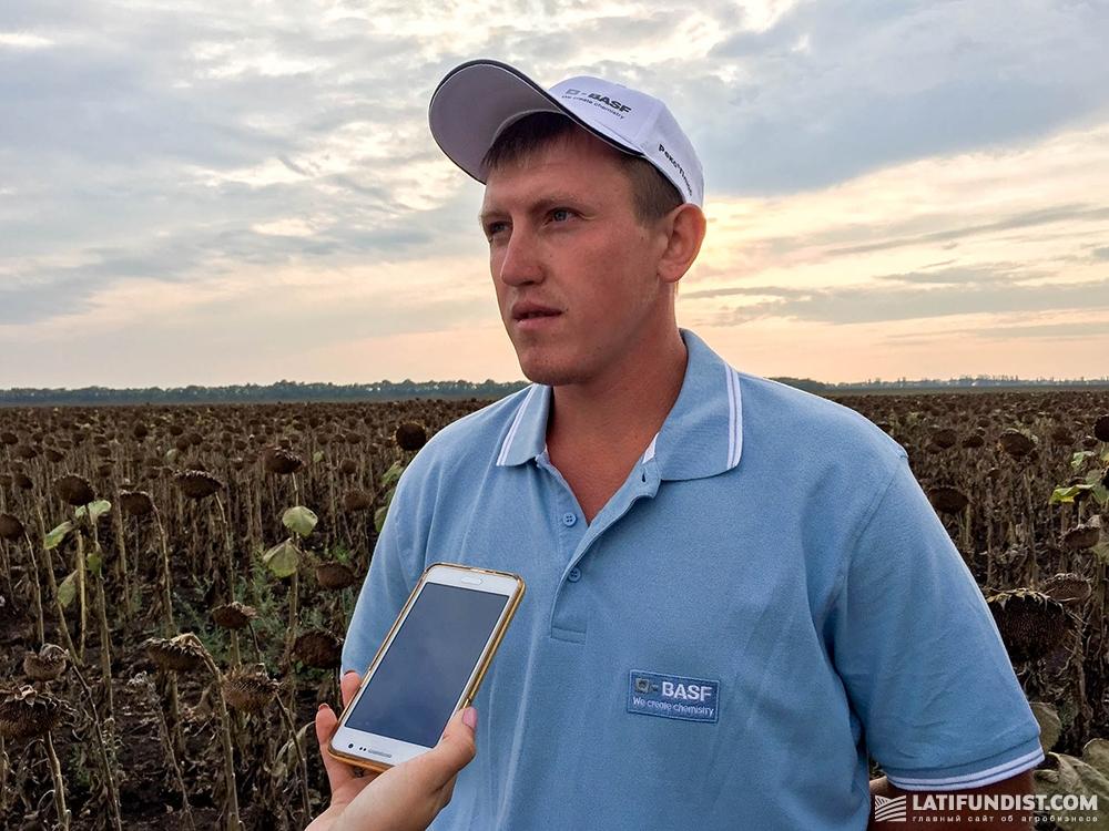 Виталий Сивак, агрономом подразделения «Жовтневое»