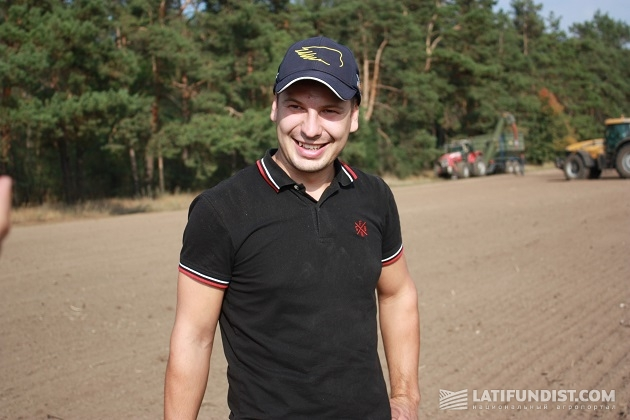 Главный агроном предприятия «Агро-регион» Павел Гаранчев