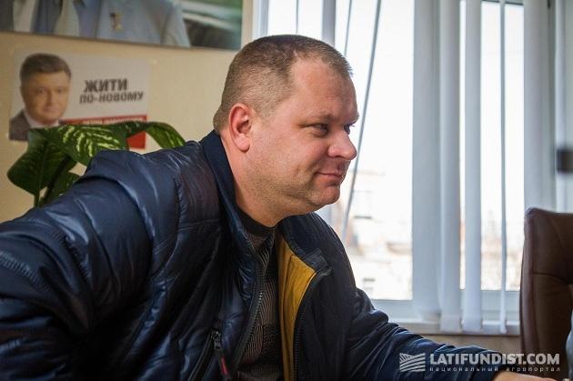 Главный агроном «ПК «Заря Подолья» Андрей Шовдра