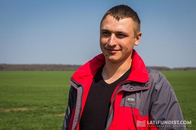 Ведущий агроном подразделения «Михайловское» Степан Андрушко