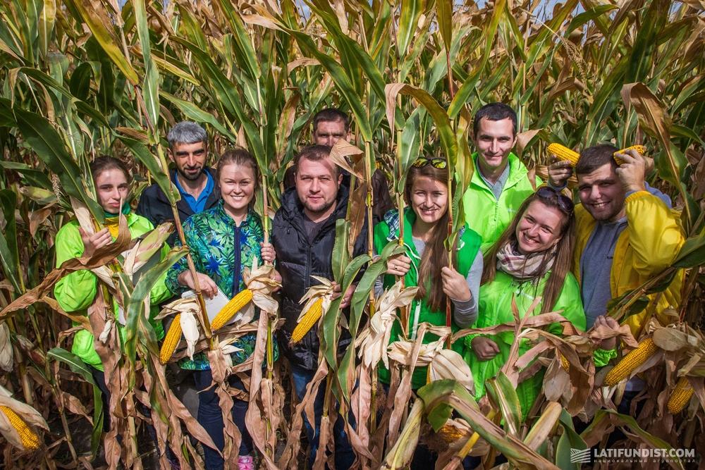 АгроЭкспедиторы в поле кукурузы предприятия «Агроинвестконтакт»