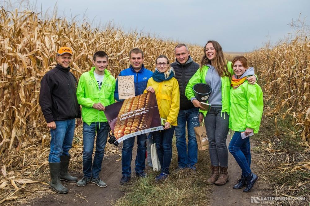 Команда АгроЭкспедиторов на полях СФХ «Видродження»