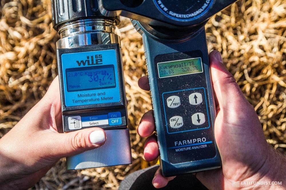 Измерение влажности кукурузы