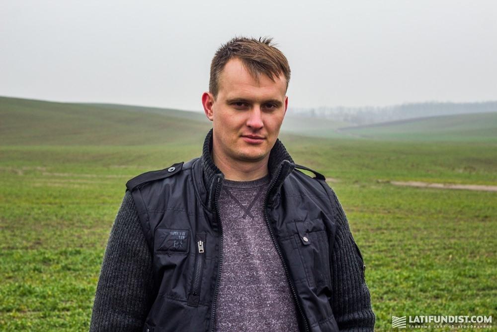 Владимир Мул, агроном хозяйства ЧАСХП им. Ивана Франко