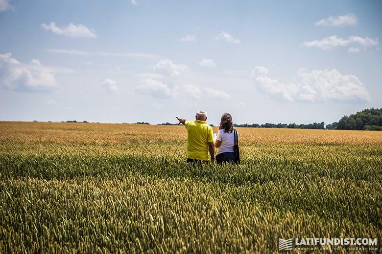 Осматриваем поля «Барышевской зерновой компании» с Богданом Черемхой