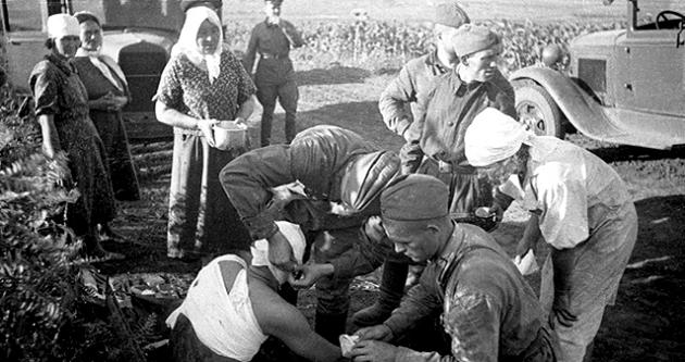 Использование медовых бинтов во время войны
