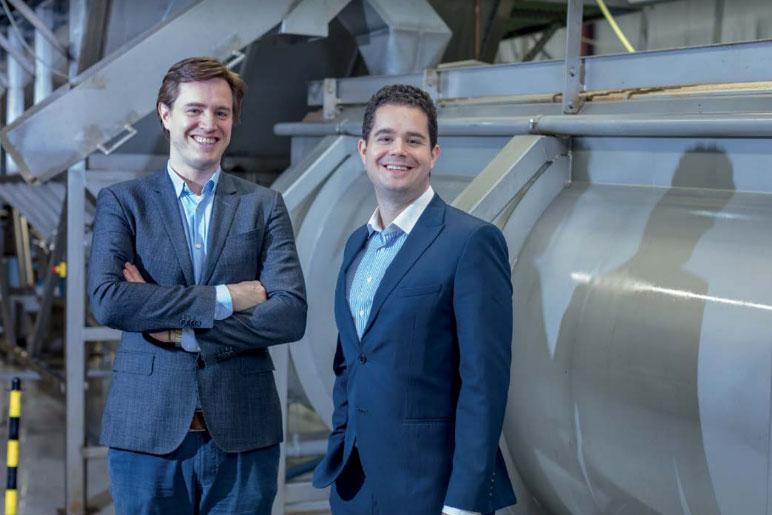 Кес Артс, основатель и исполнительный директор компании Protix, и Андреас Эпли, исполнительный директор Bühler Insect Technology Solutions