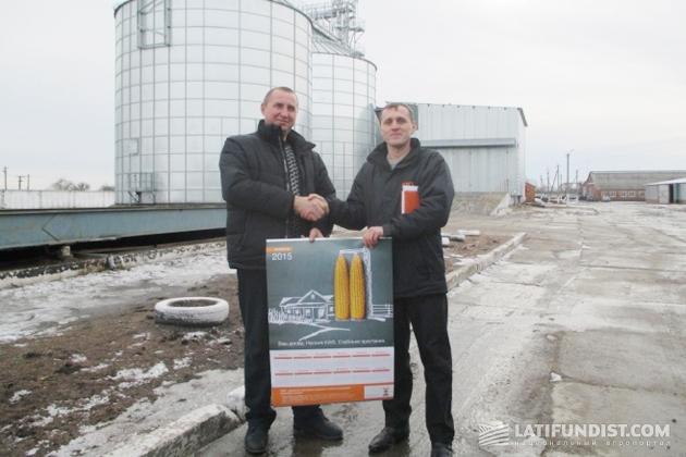 Николай Дрозд с представителем КВС-Украина