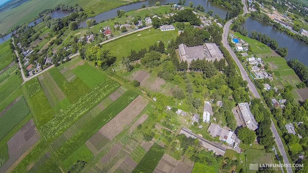 Украинское село с высоты птичьего полета