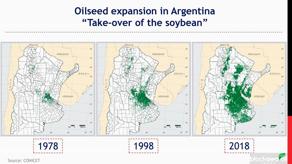 Рост площадей под соей в Аргентине