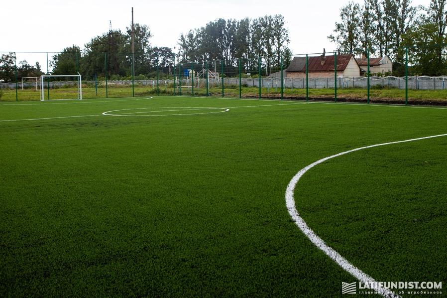 Стадион в селе Сопошин во Львовской области