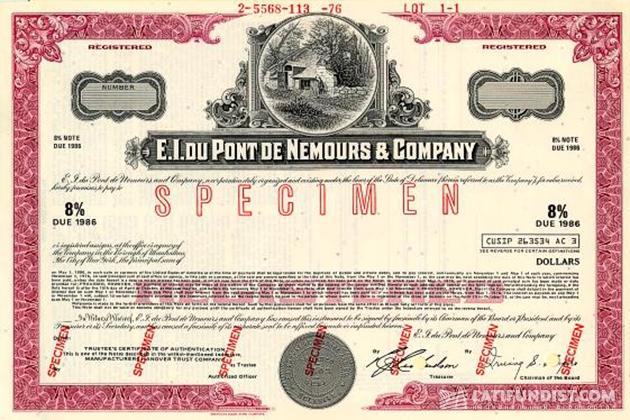 Французом-эмигрантом основан американский химический концерн «Дюпон де Немур»