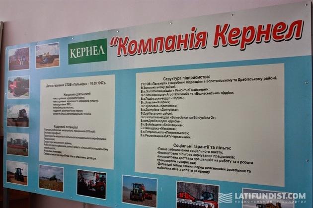 Информационный стенд в СООО «Пальмира»