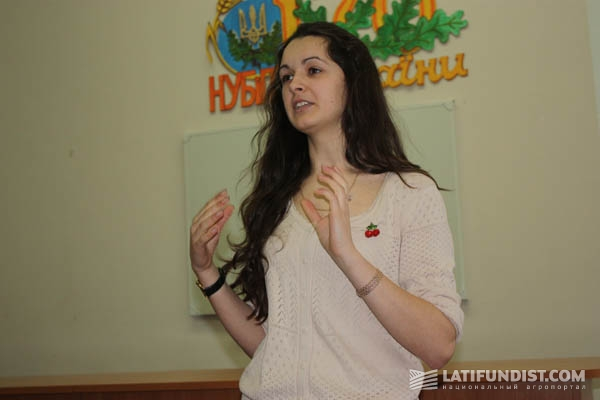 Глава студенческой организации Ольга Кухар