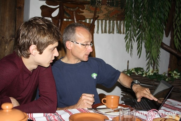Роман Мошин (ОДА Украина) и французский агроном Люк Лоран