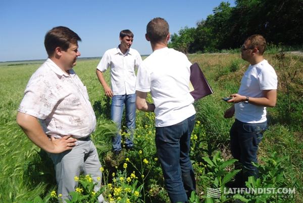 Экипаж ОДА Украина на поле KSG Agro