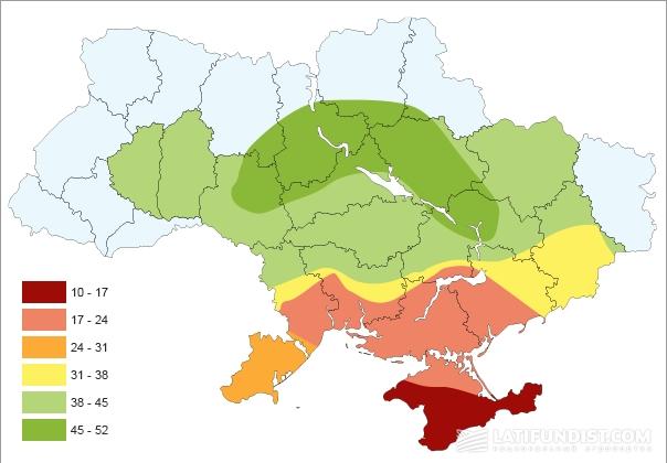 Показатели урожайности озимой пшеницы по данным NDVI