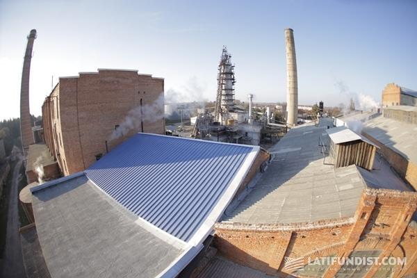 Ждановский сахарный завод, вид сверху